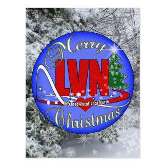 LVN CHRISTMAS MERRY LICENSED VOCATIONAL NURSE POSTCARD