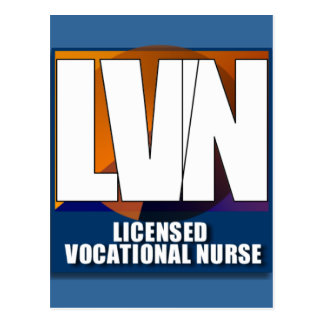 LVN LICENSED VOCATIONAL NURSE LOGO POST CARDS