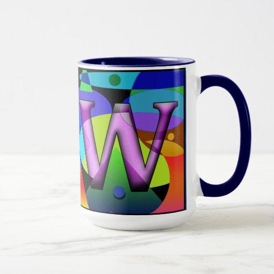 LW Monogramed, Initialled, Custom coffee mug