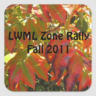 LWML Zone Rally-sample 1 Square Sticker