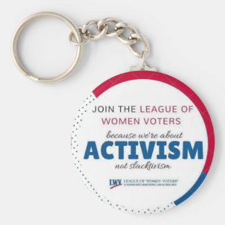 LWVAH Activism Not Slactivism keychairn Key Ring