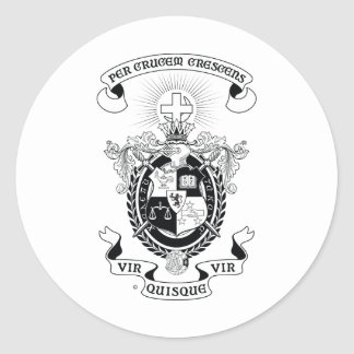 LXA Coat of Arms Classic Round Sticker