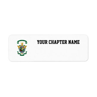 LXA Coat of Arms Return Address Label