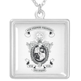 LXA Coat of Arms Silver Plated Necklace