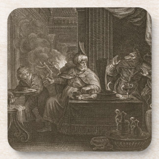 Lycaon Metamorphosed into a Wolf, 1731 (engraving) Beverage Coasters