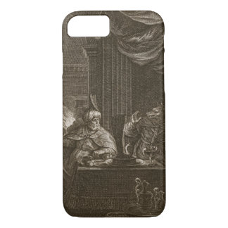 Lycaon Metamorphosed into a Wolf, 1731 (engraving) iPhone 8/7 Case