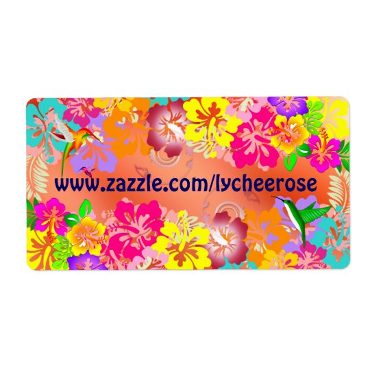 lycheerose stickers shipping label