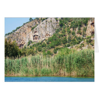 Lycian Rock Tombs Dalyan Turkey Greeting Cards