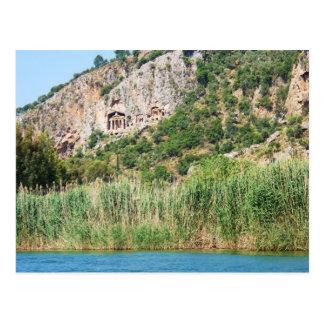 Lycian Rock Tombs, Dalyan,Turkey Postcard
