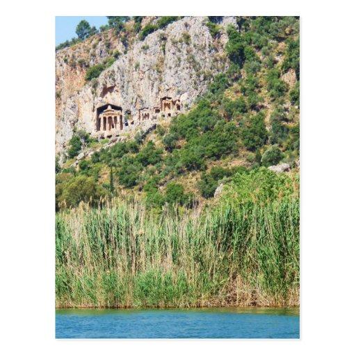 Lycian Rock Tombs, Dalyan,Turkey Post Cards