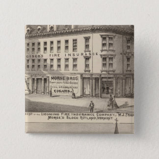 Lycoming Fire Insurance Company 15 Cm Square Badge