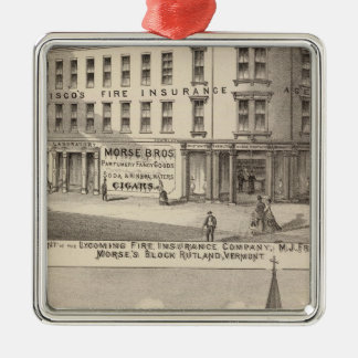 Lycoming Fire Insurance Company Silver-Colored Square Decoration