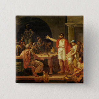 Lycurgus Showing the Ancients of Sparta their 15 Cm Square Badge