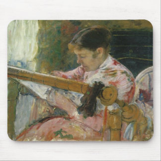 Lydia At A Tapestry Loom Mary Cassatt Mouse Mats