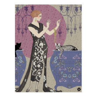 Lydia & Bengal in Mauve and Taupe Post Cards