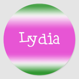 Lydia Classic Round Sticker