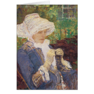 Lydia Crocheting in Garden at Marly, Mary Cassatt Card