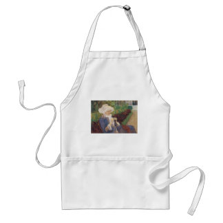 Lydia Crocheting in Garden at Marly, Mary Cassatt Standard Apron