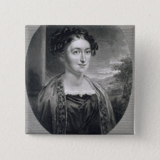 Lydia Huntley Sigourney (1791-1865), engraved by B 15 Cm Square Badge