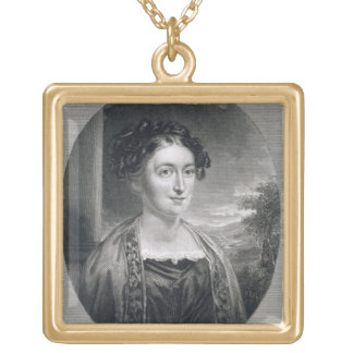 Lydia Huntley Sigourney (1791-1865), engraved by B Gold Plated Necklace