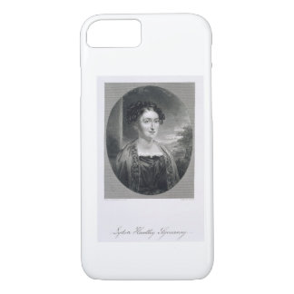 Lydia Huntley Sigourney (1791-1865), engraved by B iPhone 8/7 Case