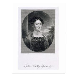 Lydia Huntley Sigourney (1791-1865), engraved by B Postcard