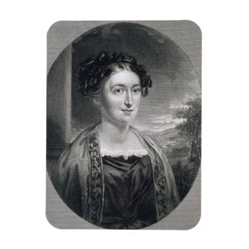 Lydia Huntley Sigourney (1791-1865), engraved by B Flexible Magnet