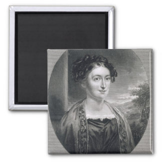 Lydia Huntley Sigourney (1791-1865), engraved by B Square Magnet
