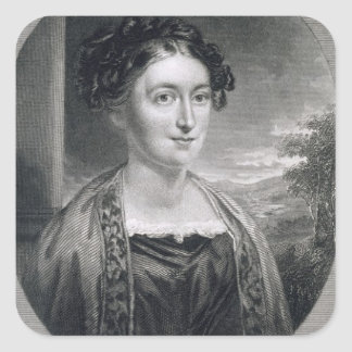 Lydia Huntley Sigourney (1791-1865), engraved by B Square Sticker