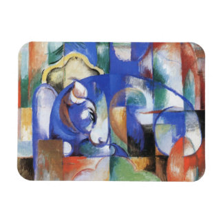 Lying Bull by Franz Marc, Vintage Cubism Art Rectangular Photo Magnet