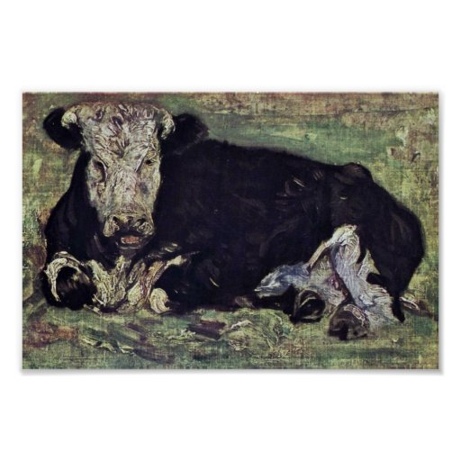 Lying Cow By Vincent Van Gogh Poster