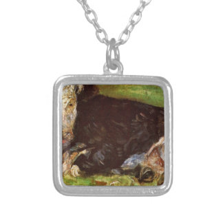 Lying Cow by Vincent van Gogh Square Pendant Necklace