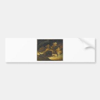 Lying Lions by Theodore Gericault Bumper Sticker