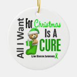 Lyme Disease All I Want For Christmas Ornaments