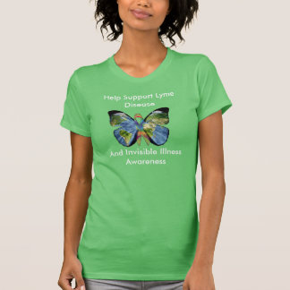 Lyme Disease and Invisible Illness Awareness Shirt