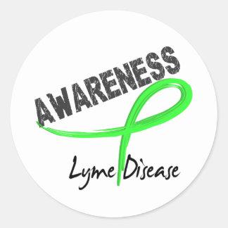 Lyme Disease Awareness 3 Round Sticker