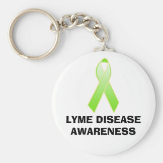 LYME DISEASE AWARENESS BASIC ROUND BUTTON KEY RING