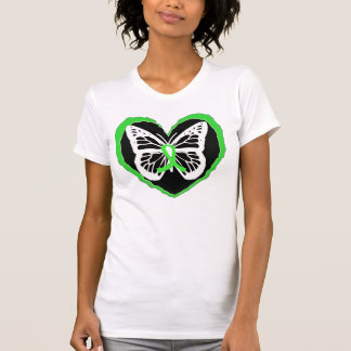 Lyme Disease Awareness Butterfly Lyme Ribbon Heart T Shirts