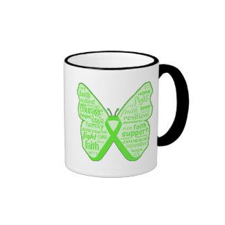Lyme Disease Awareness Butterfly Ribbon Ringer Mug