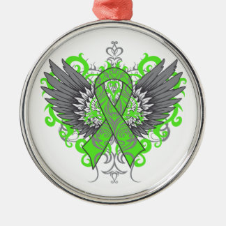 Lyme Disease Awareness Cool Wings Silver-Colored Round Decoration