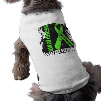 Lyme Disease Awareness Grunge Ribbon Sleeveless Dog Shirt