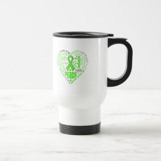 Lyme Disease Awareness Heart Words Stainless Steel Travel Mug