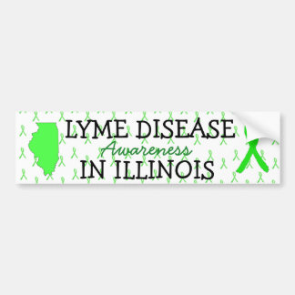 Lyme Disease Awareness Illinois Bumper Stickers