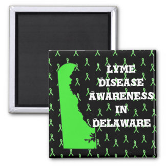 Lyme Disease Awareness in Delaware Square Magnet