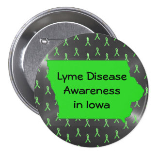 Lyme Disease Awareness in Iowa Button