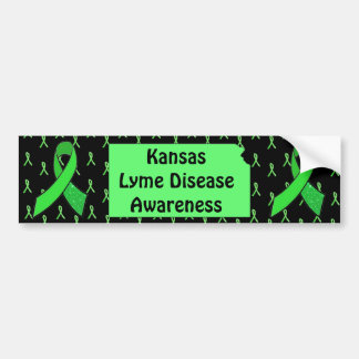 Lyme Disease Awareness IN Kansas Bumper Sticker