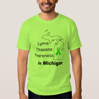 Lyme Disease Awareness in Michigan T-shirt