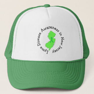 Lyme Disease Awareness in New Jersey Ribbon Hat