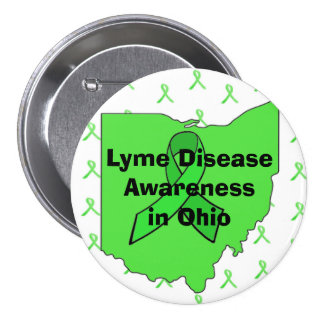 Lyme Disease Awareness in Ohio Button