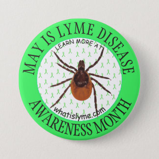 Lyme Disease Awareness Month Deer Tick Button